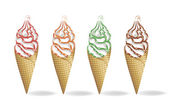 Ice-cream dessert — Stock Vector