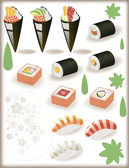 Japanes Sushi — Stock Vector