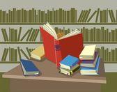 Reader of books — Stock Vector
