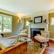 Classic green natural living room. — Stock Photo #7590150