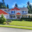 Front of the large new American home — Stock Photo #7590880