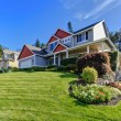 Stock Photo: Exterior front of large home. Northwest. America.