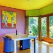 Retro bright dining room — Foto Stock #7591506
