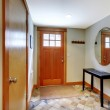 Entrance and hallway with two doors — Stock Photo