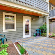 Small yard of the town house — Stock Photo #7596845