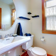 Bathroom with blue towels — Stockfoto #7596901