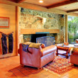 Cowboy horse ranch living room — Stock Photo