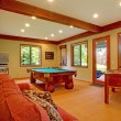 Guest house with kitchen and red sofa — ストック写真 #7598266