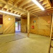 Foto Stock: Horse shed interior