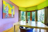Retro parlak yemek odası — Stok fotoğraf