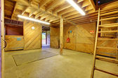 Horse shed interior — Stockfoto