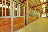 Large arena with horse stables — Stock Photo