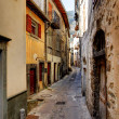 Tende, France. village in the mountains. Narrow street. - Stock Photo