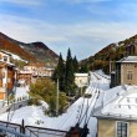 Limone Piemonte, Italy. Ski resort town. Beginning of Nov.2011. — Stock Photo
