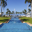 Постер, плакат: Main swimming pool alley in Grand Wailea resort Maui Hawaii