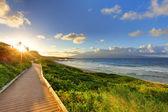 Oneloa Beach Pathway at sunset, Maui Hawaii — Stock Photo