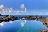 Olivine Pools rocks and ocean. West Maui, Hawaii — Stock Photo