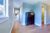 Hallway from bedroom to the bathroom — Stock Photo
