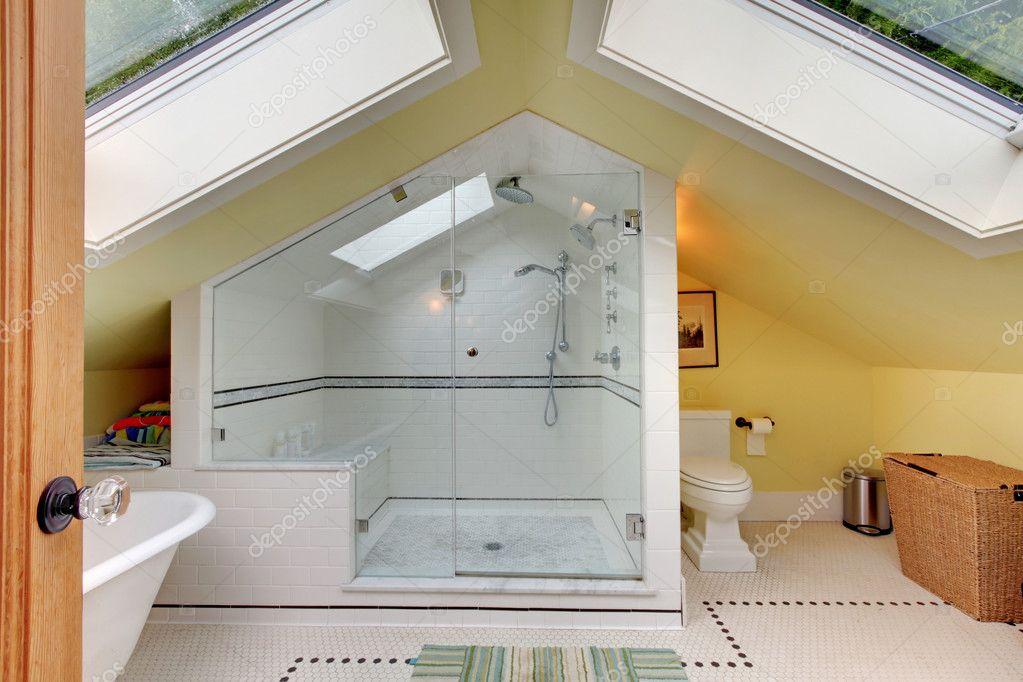 attic bathroom images - Sótão novo remodelado moderna casa de banho duche