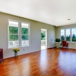 Empty white room with a large window — Stock Photo