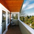 Stock Photo: View from balcony of spring neighboorhood near Seattle.