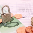 Stock Photo: Security and money