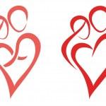 Family, love, symbol — Stock Vector