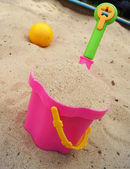 Toys in a sandbox — Stock Photo