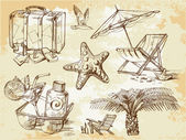 Summer lounge doodles — Stock Vector