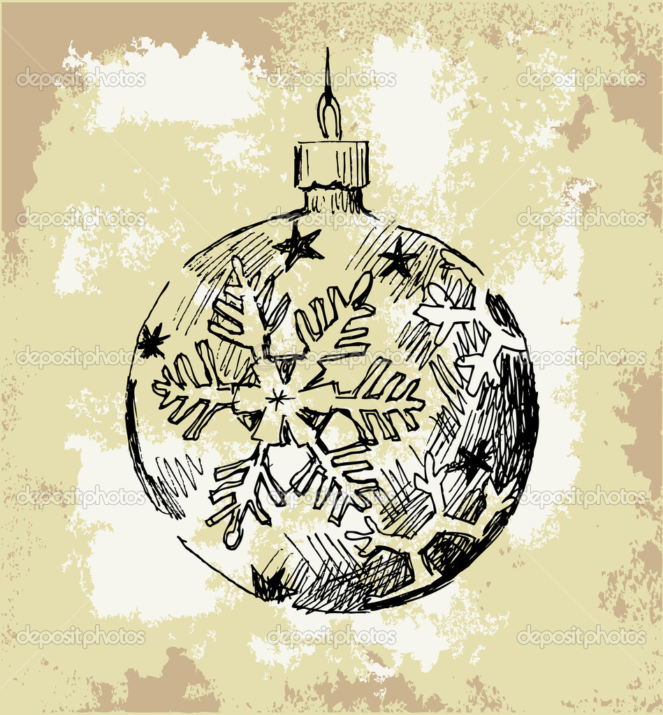 Seamless pattern with Christmas ball  Stock Vector #7102834