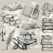 Royalty-Free Stock Vector Image: Books stack