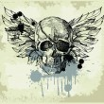 Grunge vintage skull emblem — Stock Vector #7332287