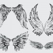 Wings vector set — Stock Vector