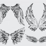 Wings vector set — Stock Vector
