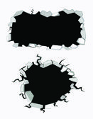 Set of cracks — Stock Vector