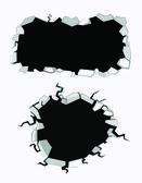 Set of cracks — Stock Vector