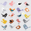 Birds background - Stock Vector