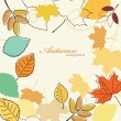 Autumn leaves falling - Stock Vector