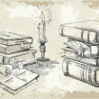 Books stack - Imagen vectorial