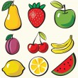 Royalty-Free Stock ベクターイメージ: Fruit background