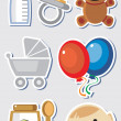 Baby boy elements — Stock Vector
