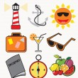 Stock Vector: Set of travel icons