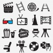 Stock Vector: Movie icon set