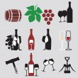 Set of wine — Stock Vector