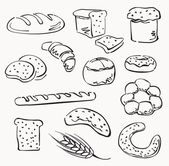 Bread set — Stock Vector