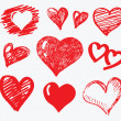 Collection heart vector — Stockvector #7729182