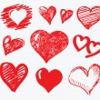 图库矢量图片: Collection heart vector