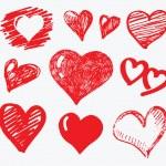 Сбор сердца вектор — Cтоковый вектор