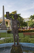 """The Boy of the Boot"". Santa Clara city's symbol — Foto Stock"