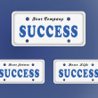 图库照片: Success license plate